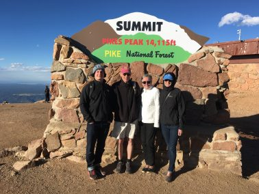 As we posed for our picture at the summit sign, I shivered almost uncontrollably, the wind pushing icy air up my legs under my shorts and cutting through my ...